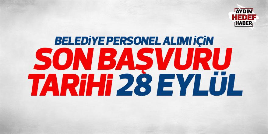 Aydın'da belediye personel alımı için son gün: 28 Eylül