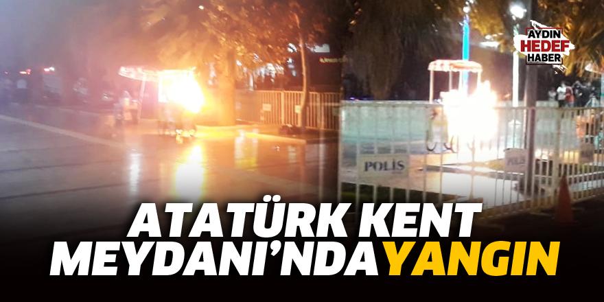 Atatürk Kent Meydanında yangın