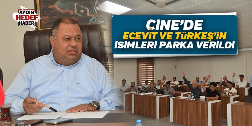 Çine'de Ecevit ve Türkeş'in isimleri parka verildi