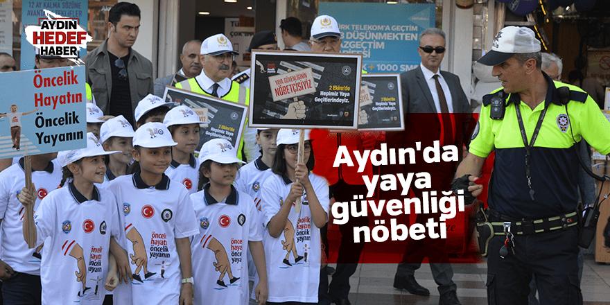 Aydın'da yaya güvenliği nöbeti