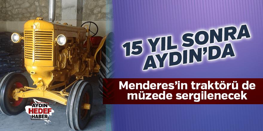 Menderes'in traktörü müzede sergilenecek