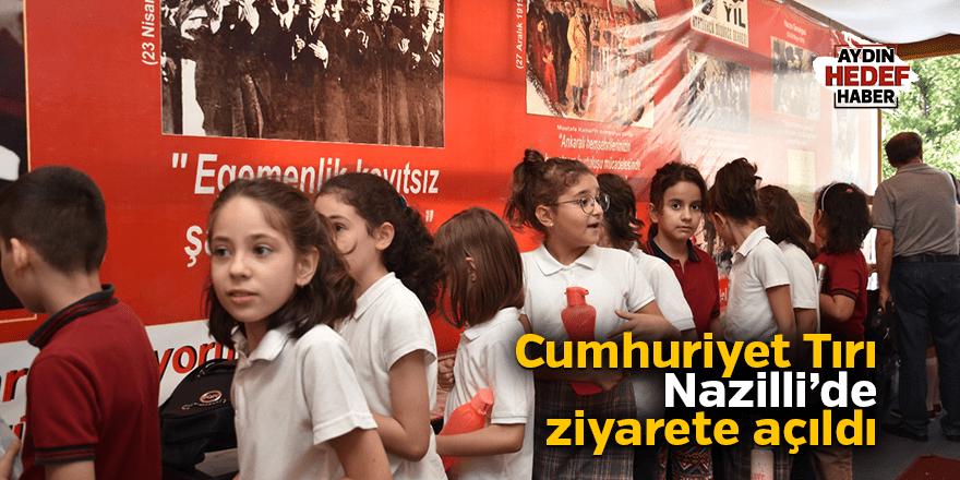 Cumhuriyet Tırı Nazilli'de ziyarete açıldı