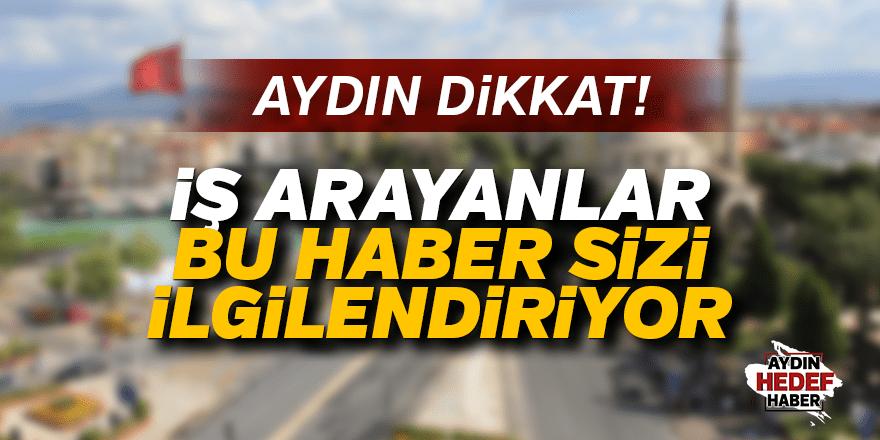 Aydın'da personel alımı yapılacak