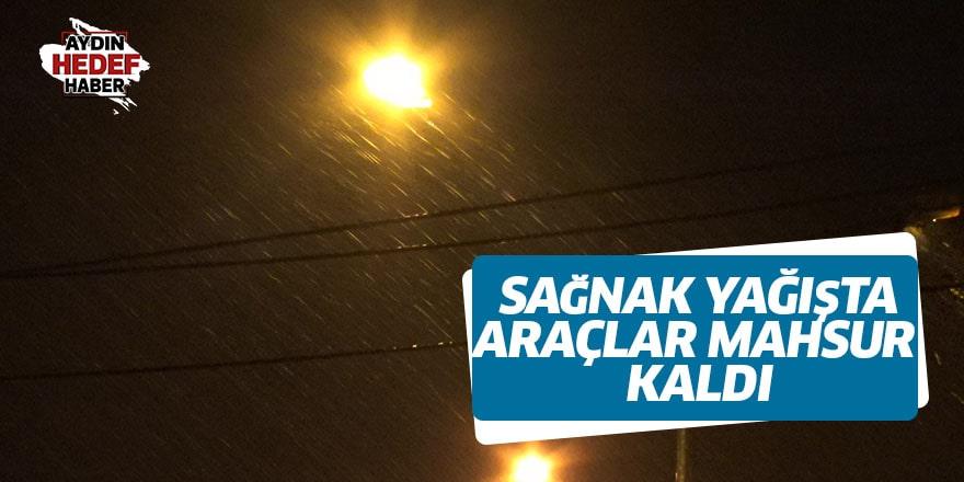 Aydın'da sağanak yağış hayatı felç etti