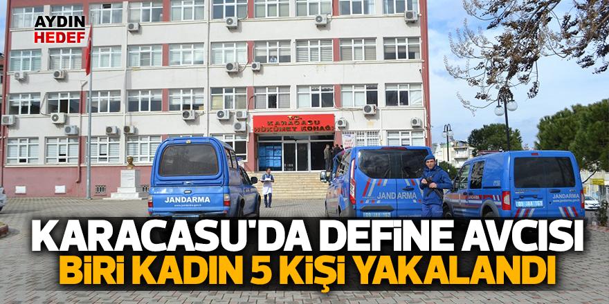 Karacasu'da define avcısı biri kadın 5 kişi yakalandı