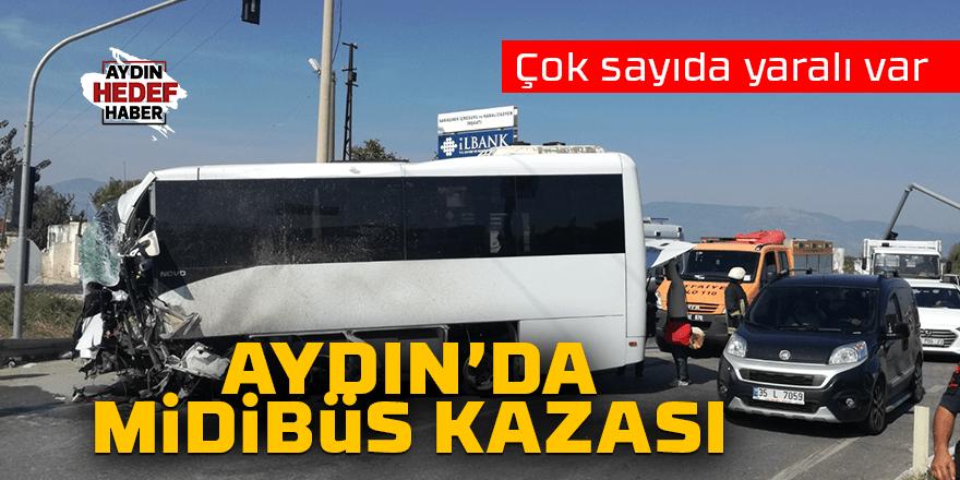 Aydın'da turistleri taşıyan midibüs direğe çarptı: 6 yaralı