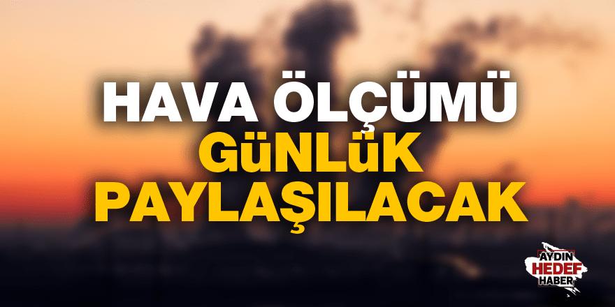 Aydın'da hava ölçümü günlük paylaşılacak