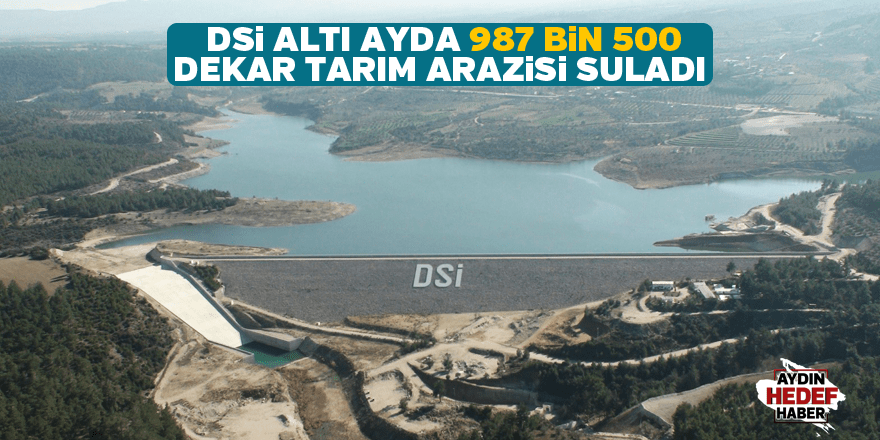 Altı ayda 987 bin 500 dekar sulandı