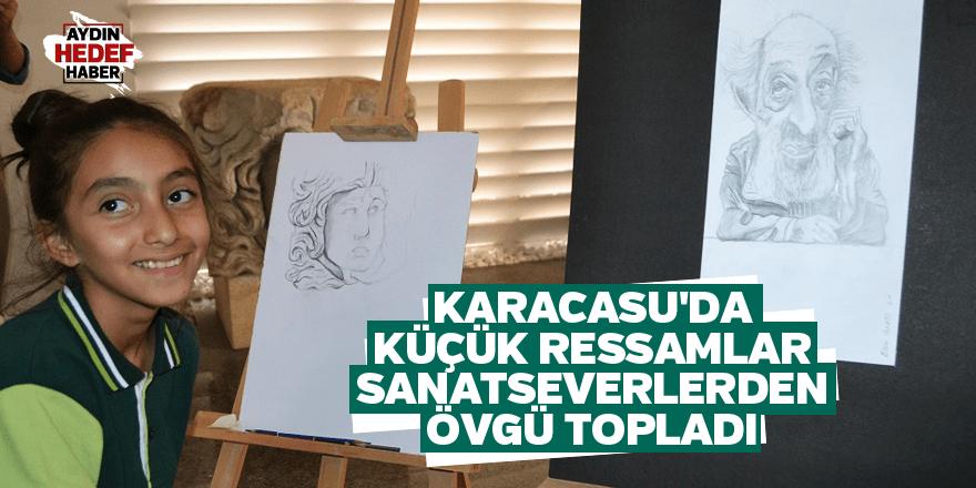 Karacasu'da küçük ressamlar sanatseverlerden övgü topladı