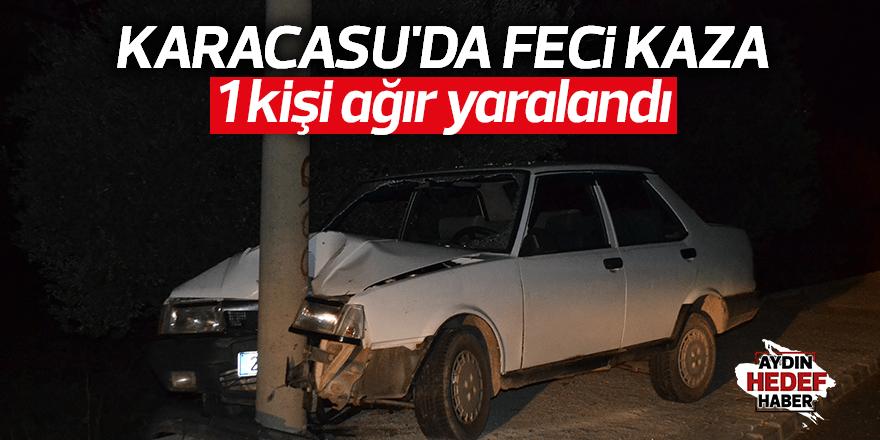 Karacasu'da feci kaza;1 kişi ağır yaralandı