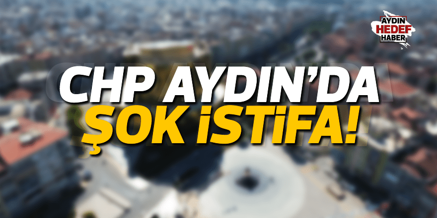 CHP Efeler'de şok istifa