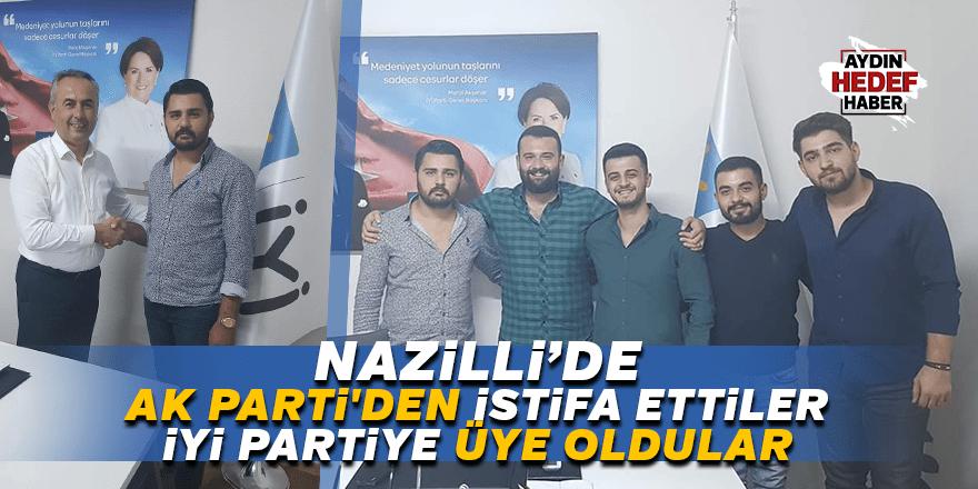 AK Parti Nazilli'de istifa eden 4 isim İYİ Parti'ye geçti