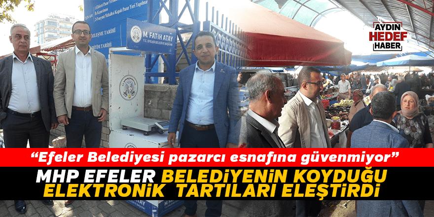 MHP Efeler, Belediye'nin koyduğu elektronik tartıları eleştirdi