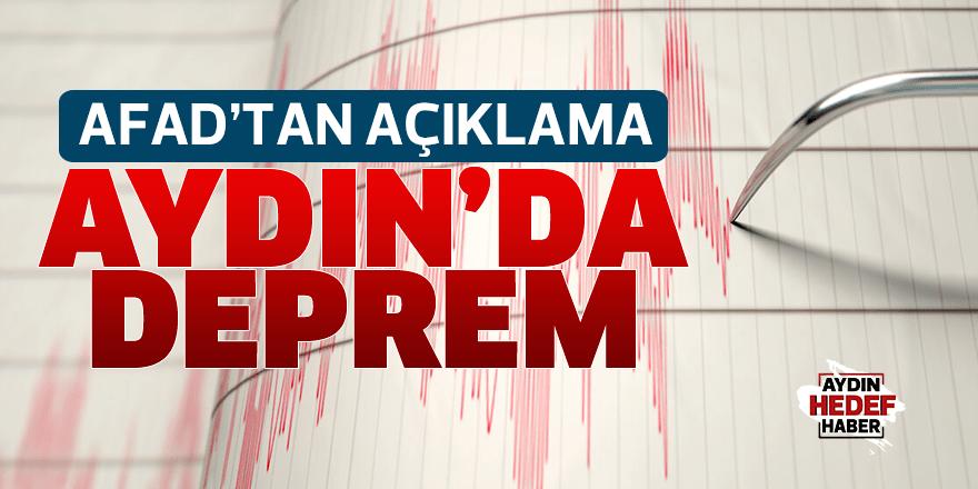 Aydın'daki deprem hakkında AFAD'tan  açıklama