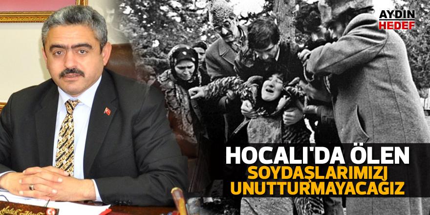 """Alıcık, """"Hocalı'da ölen soydaşlarımızı unutturmayacağız"""""""