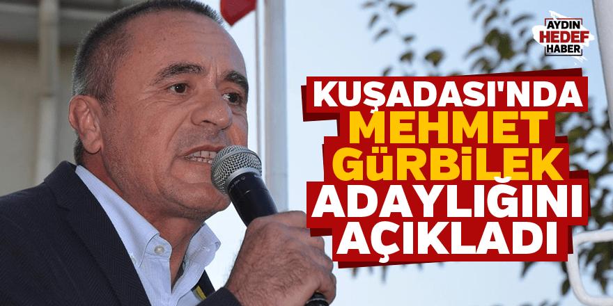 Kuşadası'nda Mehmet Gürbilek adaylığını açıkladı