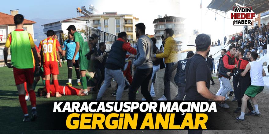 Karacasuspor maçında gergin anlar