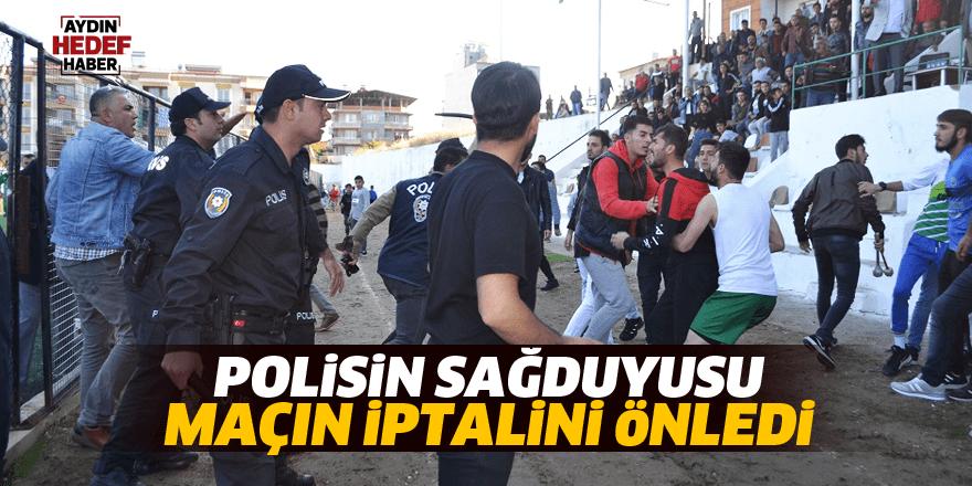 Polisin sağduyusu maçın iptalini önledi