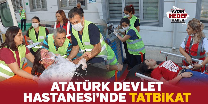 Atatürk Devlet Hastanesi'nde tatbikat