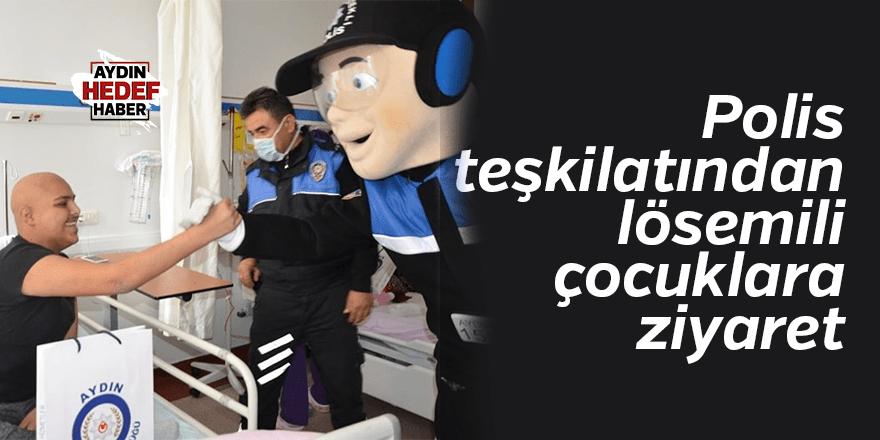 Polis teşkilatından lösemili çocuklara ziyaret