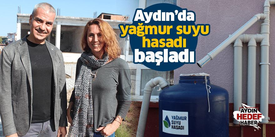 Aydın'da yağmur suyu hasadı başladı