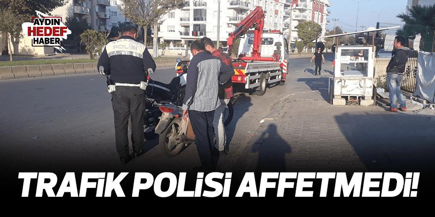 Trafik polisi affetmedi!