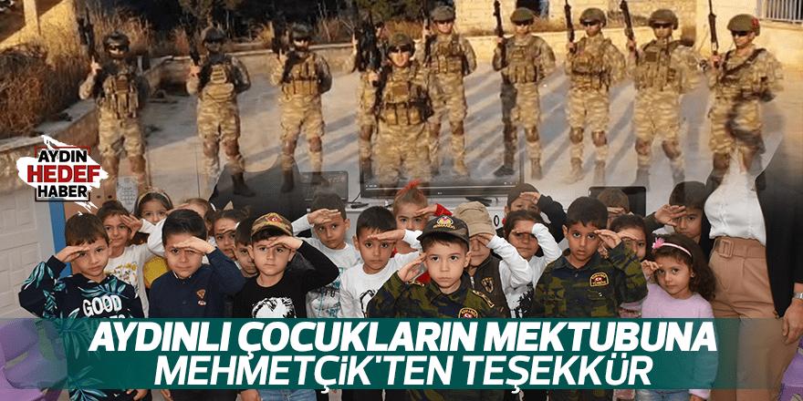 Aydınlı çocukların mektubuna Mehmetçik'ten teşekkür