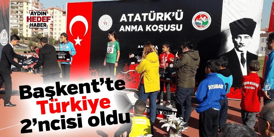 Başkent'te Türkiye 2'ncisi oldu