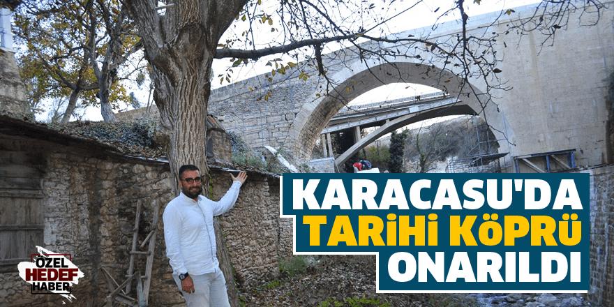 Karacasu'da tarihi köprü onarıldı