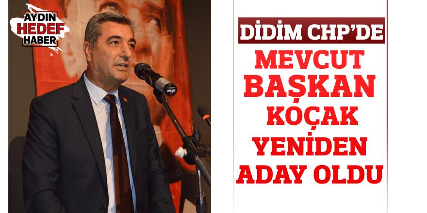 Didim CHP'de mevcut Başkan Koçak yeniden aday oldu