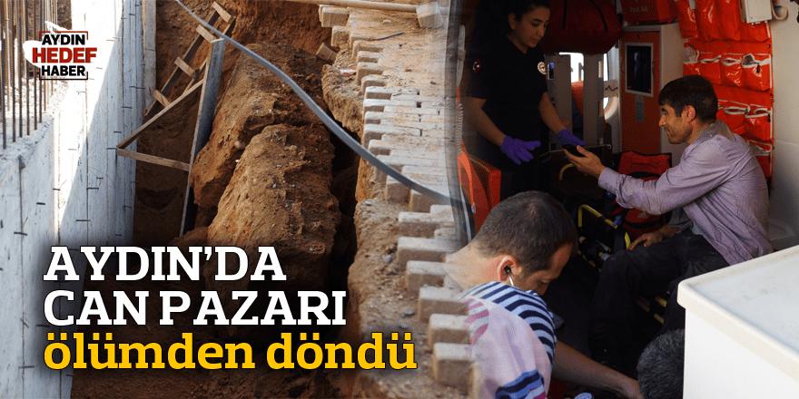 Aydın'da işçi göçük altında kaldı