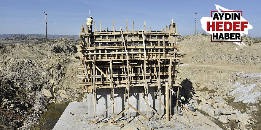 Çine'deki köprü inşaatı hızla ilerliyor