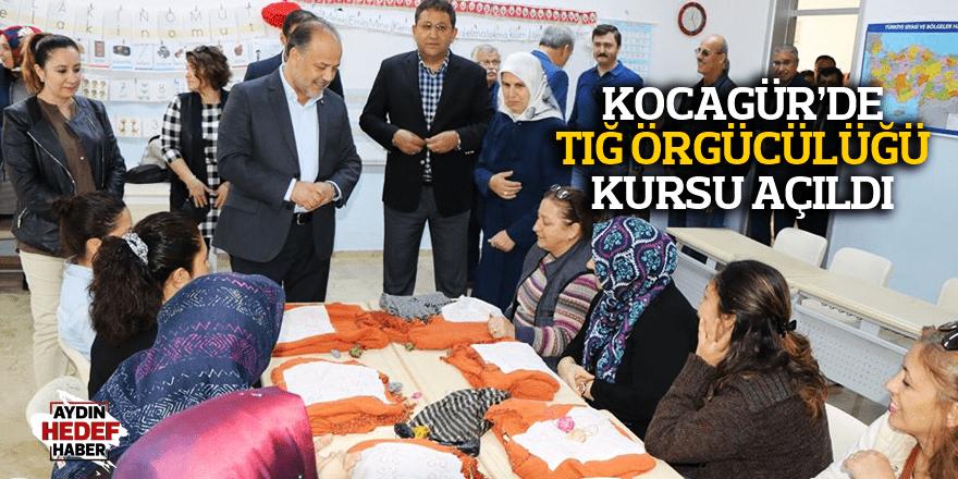 Kocagür'de tığ örgücülüğü kursu açıldı
