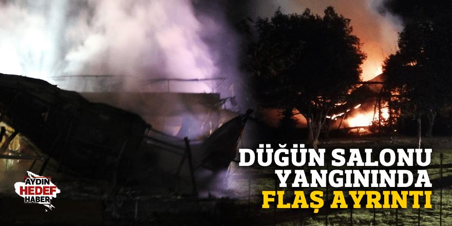 Aydın'da düğün salonu yandı