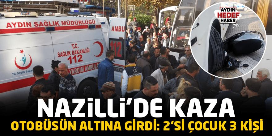 Nazilli'de kaza: 2'si çocuk 3 kişi