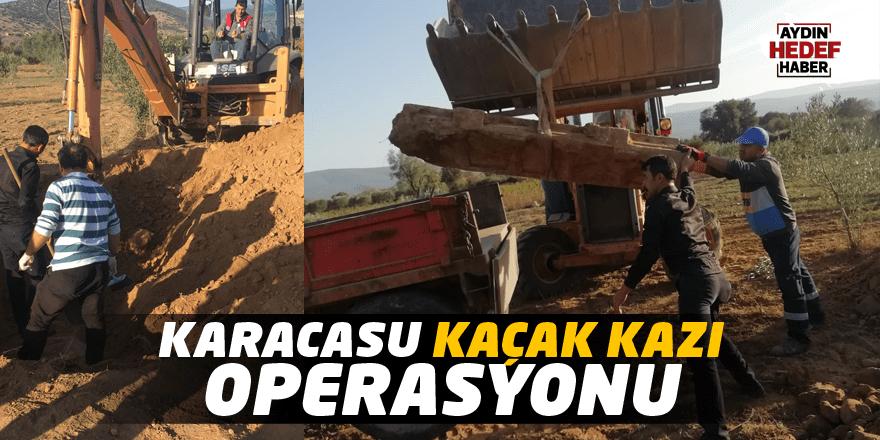 Karacasu Jandarmadan kaçak kazı operasyonu