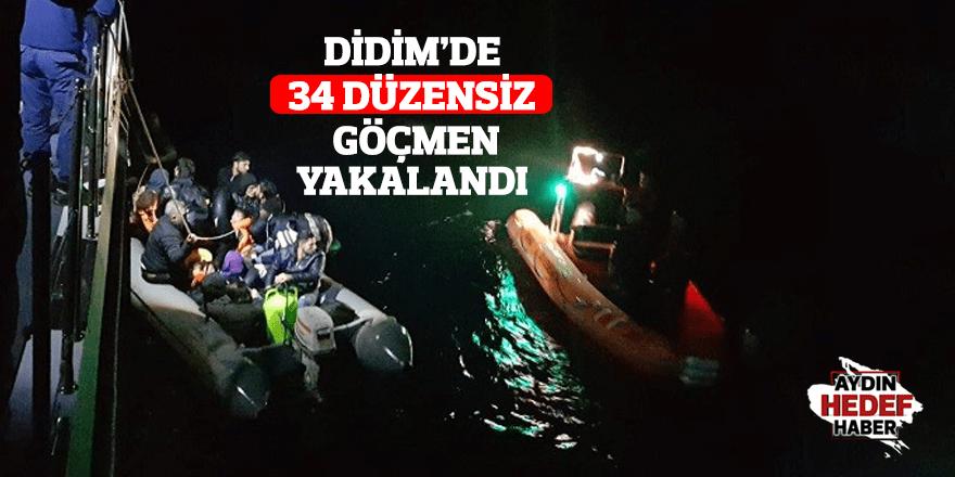 Didim'de 34 düzensiz göçmen yakalandı