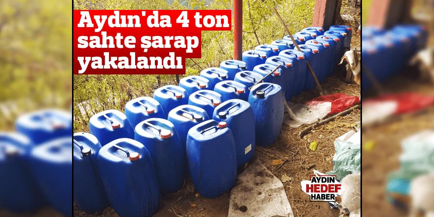 Aydın'da 4 ton sahte şarap yakalandı