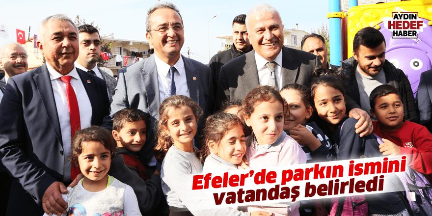 Parkın ismini vatandaş belirledi