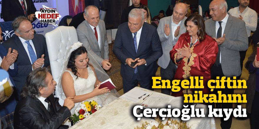 Engelli çiftin nikahını Çerçioğlu kıydı