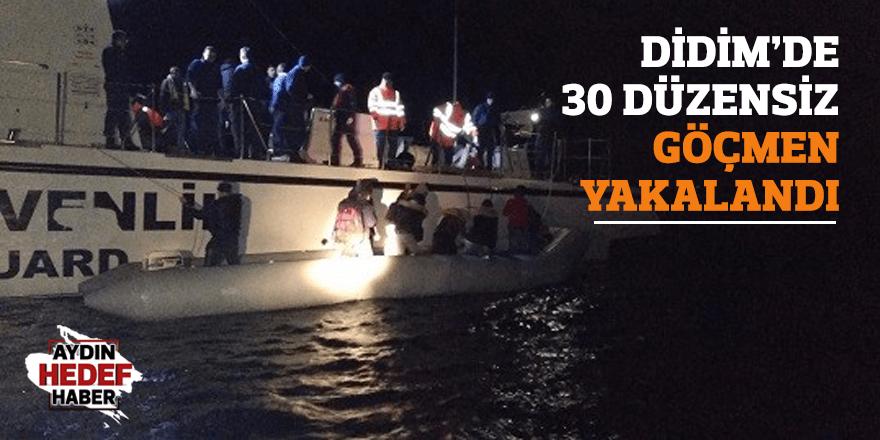 Didim'de 30 düzensiz göçmen yakalandı