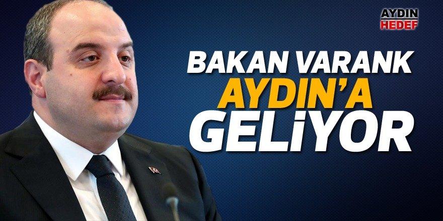 Sanayi ve Teknoloji Bakanı Mustafa Varank Aydın'a geliyor