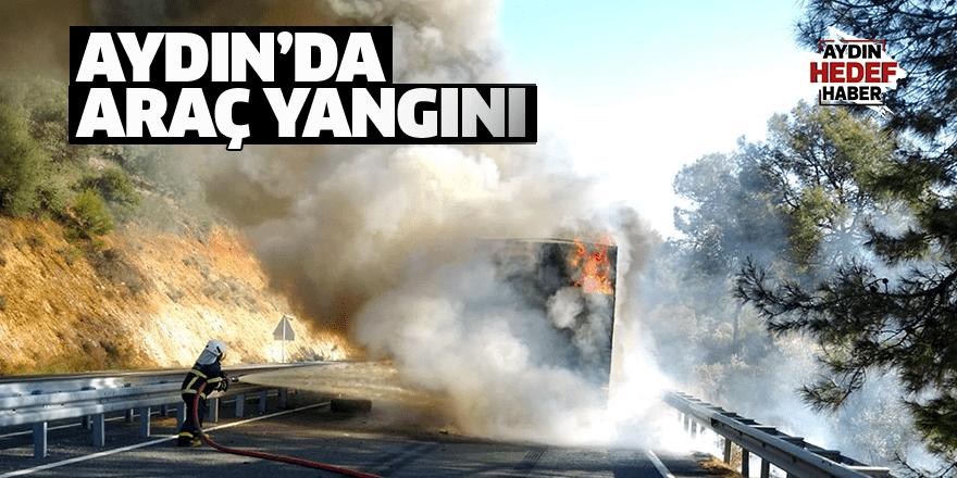 Aydın'da araç yangını