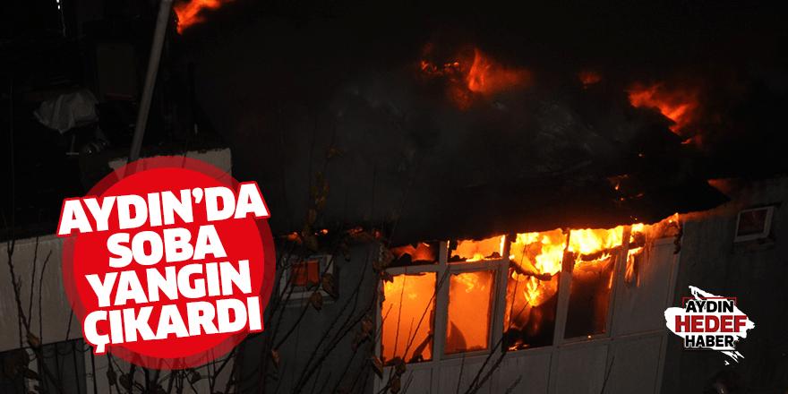 Aydın'da soba yangın çıkardı