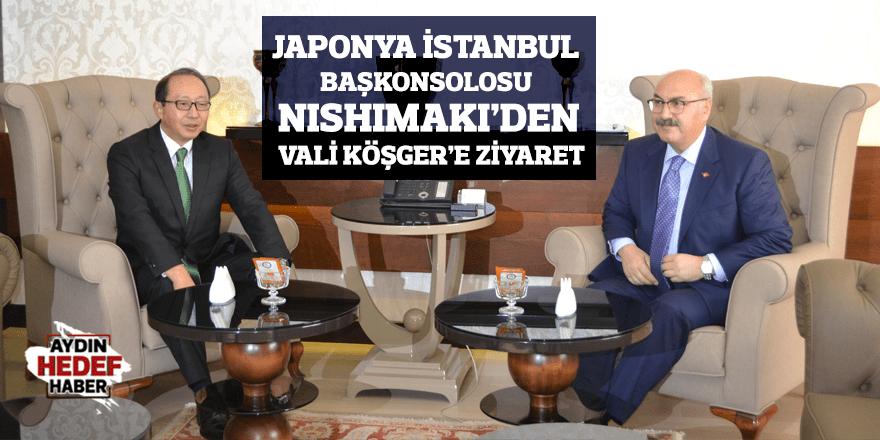 Japonya İstanbul Başkonsolosu Nıshımakı'den Vali Köşger'e ziyaret