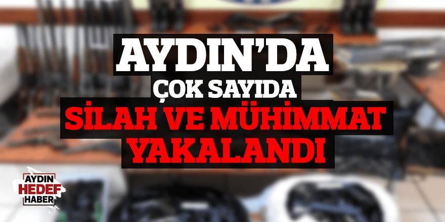 Aydın'da çok sayıda silah ve mühimmat yakalandı