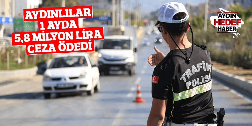 Aydınlılar 1 ayda 5,8 milyon lira ceza ödedi