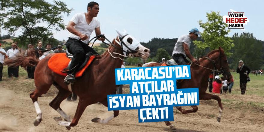 Karacasu'da yapılan deve güreşleri atçıları isyan ettirdi