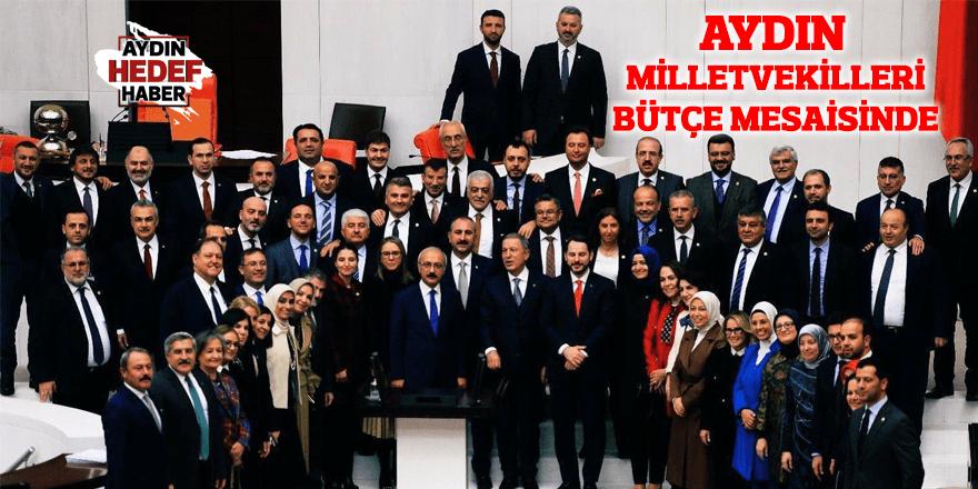 Aydın milletvekilleri bütçe mesaisinde