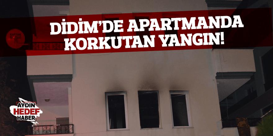 Didim'de apartmanda çıkan yangın korkuttu!